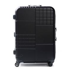 【セール】プロテカ スーツケース PROTeCA キャリーケース ブロックパック BLOCKPAC 70L Mサイズ 中型 軽量 5~6泊 フレーム 旅行 ハードケース 静音 TSAロック 日本製 エース ACE 00762 ブラック(01)