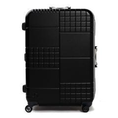 【3年保証】プロテカ スーツケース PROTeCA キャリーケース ブロックパック BLOCKPAC 90L Lサイズ 大型 軽量 7〜10泊 フレーム 旅行 ハードケース 静音 TSAロック 日本製 エース ACE 00763 ブラック(01)