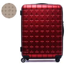【セール】プロテカ スーツケース PROTeCA プロテカ サンロクマル 360エス メタリック キャリーケース 61L Mサイズ 軽量 5~6泊 360s METALLIC ジッパー 旅行 軽量丈夫 4輪 02723 エース ACE レッド(10)