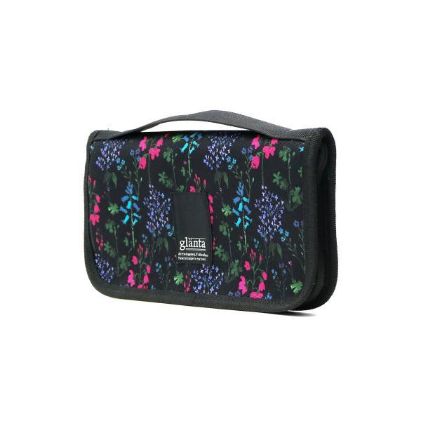 glanta パスポートケース グレンタ スプリンクルフラワープリント 旅行 トラベルポーチ トラベルケース 花柄 レディース 04071491 ブラック(90)