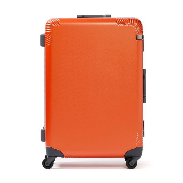 エース スーツケース ace キャリーケース カーンF Quern-F ace.TOKYO エーストーキョー フレームタイプ 60L 3~5泊 中型 Mサイズ ハード 旅行 ハンガー TSA 04091 オレンジ(14)