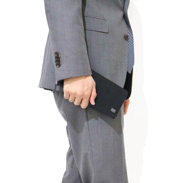 吉田カバン ポーター 長財布 ポーター カレント 財布 PORTER CURRENT ラウンドファスナー 吉田カバン メンズ レディース 052-02214 ブラウン(60)