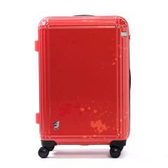 エース スーツケース ace. ディズニー スーツケース サーフィンミッキー Surfing Mickey 限定 キャリーケース ace.TOKYO エーストーキョー ファスナー 60L 3~5泊程度 中型 Mサイズ TSAロック 06122 レッド(10)