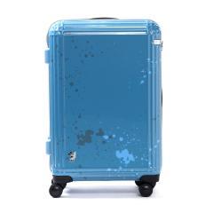 エース スーツケース ace. ディズニー スーツケース サーフィンミッキー Surfing Mickey 限定 キャリーケース ace.TOKYO エーストーキョー ファスナー 60L 3~5泊程度 中型 Mサイズ TSAロック 06122 ブルー(15)