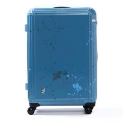 エース スーツケース ace. ディズニー スーツケース サーフィンミッキー Surfing Mickey 限定 キャリーケース ace.TOKYO エーストーキョー ファスナー 81L 7~10泊程度 大型 Lサイズ TSAロック 06123 ブルー(15)
