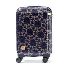 【セール】エース スーツケース ace. ディズニー キャリーケース 機内持ち込み ミッキー&ミニー ミッキーアンドミニー シルエット 限定 ファスナー 32L 1~2泊程度 小型 Sサイズ TSAロック 06124 ネイビー(03)