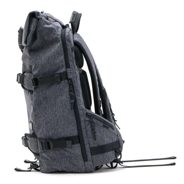 AS2OV アッソブ リュックサック バックパック ロールトップ CORDURA MIX 300D×420d フラップ メンズ 061401-mx ブラック(10)