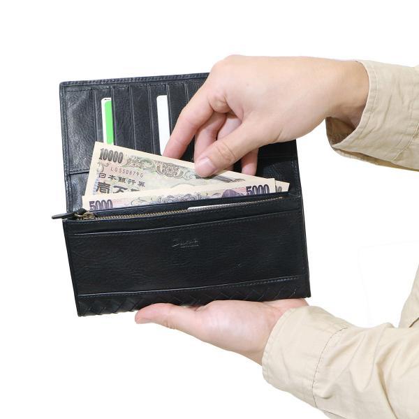 ダコタ Dakota 財布 長財布 BLACK LABEL ブラックレーベル マーリア 本革 小銭入れあり 二つ折り フラップ ブランド メンズ 0626902 ブラック(10)