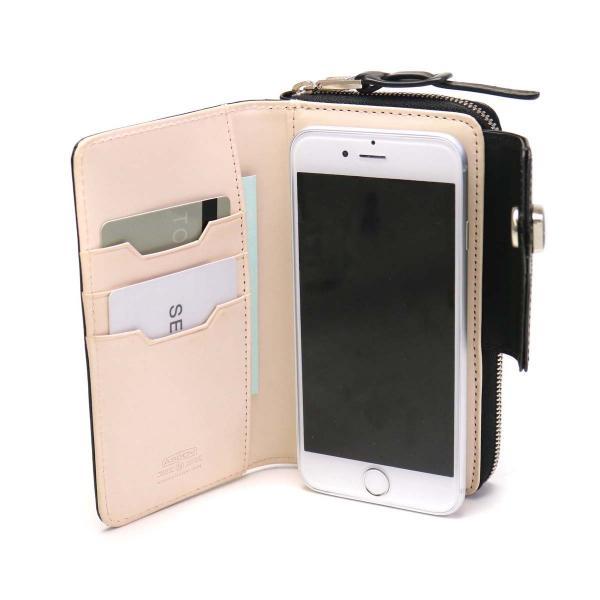 アッソブ 財布 AS2OV モバイルウォレット レザー GLASS LEATHER WALLET MOBILE WALLET スマホ iPhone 二つ折り財布 本革 メンズ レディース ASSOV 071703 グレー(15)