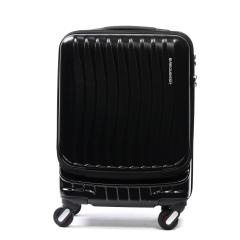 フリクエンター クラムアドバンス FREQUENTER スーツケース CLAM ADVANCE キャリーケース 機内持ち込み 34L 軽量 エンドー鞄 ファスナー 旅行 1~2泊程度 静音 1-216 ブラック