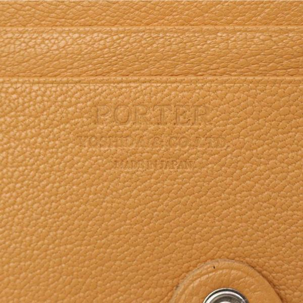 吉田カバン ポーター ダブル PORTER DOUBLE ポ-タ- 二つ折り財布 財布 サイフ ラウンドファスナー メンズ レディース 吉田かばん 129-03736【送料無料】ポーターバッグ ブラウン×オレンジ