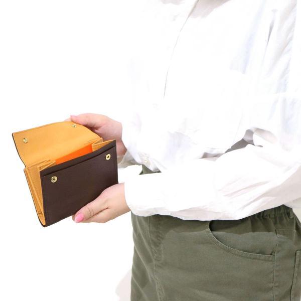 吉田カバン ポーター ダブル PORTER DOUBLE 二つ折り財布 財布 さいふ サイフ メンズ レディース 吉田かばん 129-06011【送料無料】ポーターバッグ ブラック×オレンジ