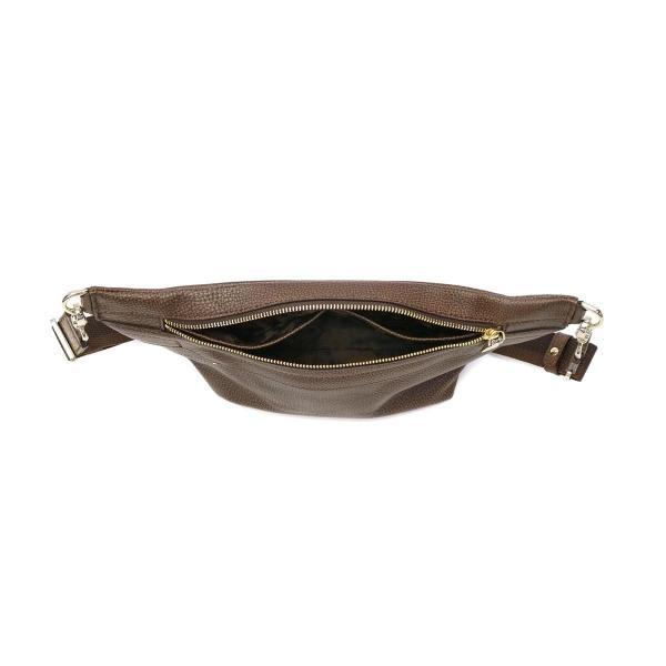 アニアリ ボディバッグ aniary ワンショルダー グラインドレザー ショルダーバッグ 本革 メンズ レディース 15-07000 ブラウン