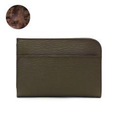 アニアリ クラッチバッグ aniary レザー 本革 ブランド Wave Leather ウェーブレザー セカンドバッグ バッグ メンズ レディース 16-08000 オリーブ