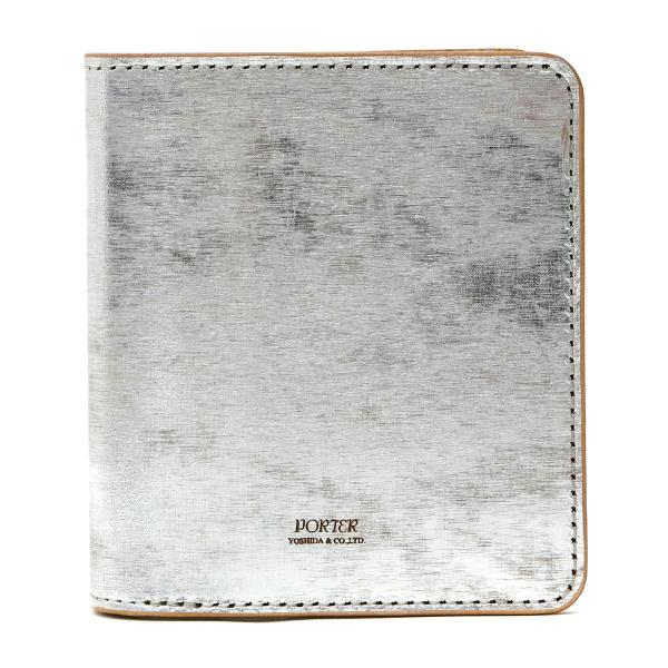 吉田カバン ポーター 財布 二つ折り財布 札入れ フォイル PORTER FOIL メンズ ポ-タ- 195-01333 シルバー(11)