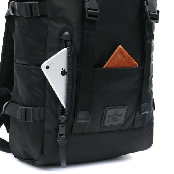 マキャベリック リュック MAKAVELIC バックパック LIMITED EXCLUSIVE DOUBLE BELT DAYPACK ZONE MIX デイパック PC収納 メンズ レディース 通学 3108-10106 BLACK