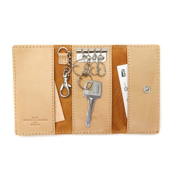 クリード キーケース Creed 小物 ENERGY エナジー key case 鍵 スマートキー 牛革 レザー メンズ レディース 312C884 ネイビー(75)