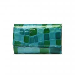 アルカン キーケース Arukan メテオール カードポケット 鍵 革 レディース 3257-304 ブルーグリーン(65)