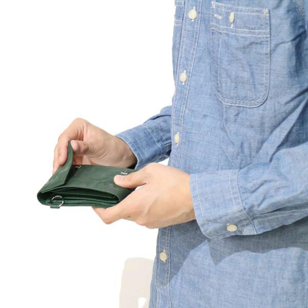 吉田カバン ポーター 財布 ワンダー PORTER WONDER 三つ折り財布 メンズ ポ-タ- 342-03841【送料無料】ポーター グリーン(30)