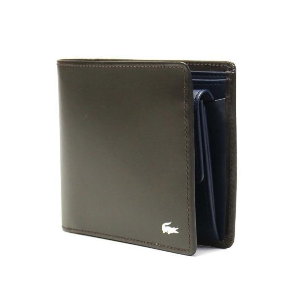 6f9daa0520cf レザー 461313 メンズ 財布 【即日発送】 ラコステ LACOSTE メンズプレミアム 二つ折り財布