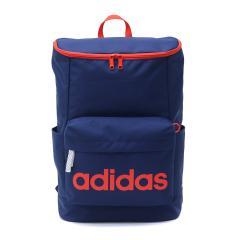 【セール】アディダス リュックサック adidas スクールバッグ リュック デイパック 通学 バッグ バックパック スクール スポーツ スクエア型 20L レディース メンズ 中学生 高校生 47894 ネイビーxオレンジ(14)