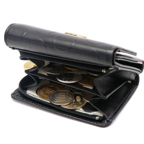 ツモリチサト 財布 tsumori chisato carry 三つ折り財布 レディース ブランド ラウンドヘム ミニ財布 レザー 57267 ブラック(01)