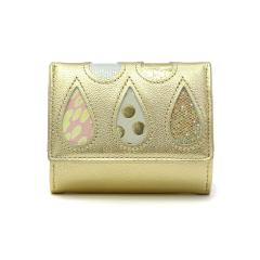 ツモリチサト 財布 tsumori chisato carry 三つ折り財布 ドロップス レディース ミニ財布 小銭入れ 革 レザー 57921 ゴールド2(80)
