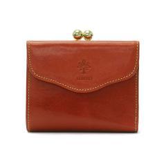 アルベロ 二つ折り財布 ALBERO 財布 がま口 がま口財布 コンパクト 本革 PIERROT ピエロ レディース 日本製 6408 オレンジ(40)
