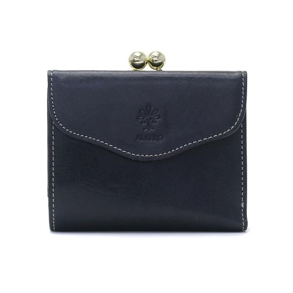 e2846cbefbf7 アルベロ 二つ折り財布 ALBERO 財布 がま口 がま口財布 コンパクト 本革 PIERROT ピエロ レディース 日本