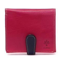 アルベロ 二つ折り財布 ALBERO 財布 BOX型小銭入れ 本革 PIERROT ピエロ コンパクト レディース 日本製 6414 フクシアピンク(30)