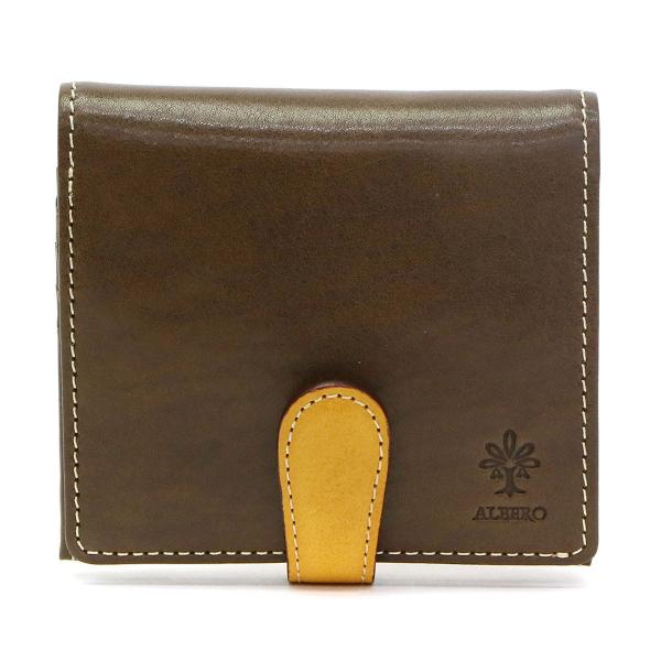 48df9d4d114a アルベロ 二つ折り財布 ALBERO 財布 BOX型小銭入れ 本革 PIERROT ピエロ コンパクト レディース