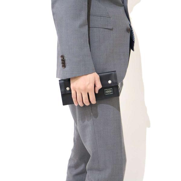 吉田カバン ポーター フリースタイル PORTER FREE STYLE ポ-タ- 長財布 財布 さいふ サイフ メンズ レディース 吉田かばん 707-08226 ブラウン(60)