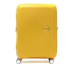 【正規品3年保証】サムソナイト アメリカンツーリスター スーツケース AMERICAN TOURISTER キャリーケース SOUNDBOX Spinner 67 EXP ファスナー 71L 81L 6~7泊程度 TSAロック 旅行 軽量 Samsonite 32G-002 ゴールデンイエロー(06002)