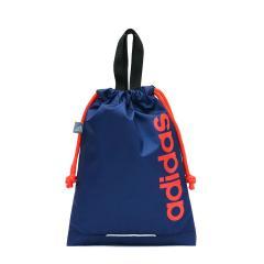 【セール】アディダス バッグ adidas シューズケース シューズバッグ 巾着 上履き入れ キッズ ジュニア 子供 ナイロン 軽量 男の子 女の子 57261 ダークブルー(03)