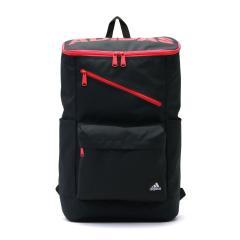 【セール】アディダス リュック adidas スクールバッグ リュックサック バックパック A4 B4 スクエア 通学 スクール スポーツ 24L メンズ レディース 中学生 高校生 55853 ブラックxアクティブレッド(02)