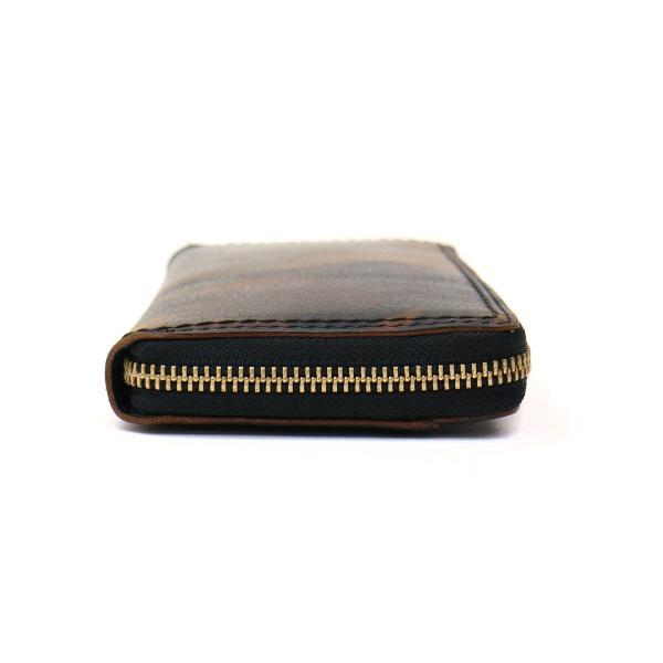 ネルド カモ 長財布 NELD CAMO ラウンドファスナー 迷彩 box型小銭入れ 革 メンズ レディース AN129 キャメル(24)
