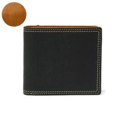 ネルド 財布 NELD 二つ折り財布 PUEBRO プエブロ BOX短財布 ショートウォレット BOX型小銭入れ 本革 レザー メンズ レディース AN142 ブラック(10)