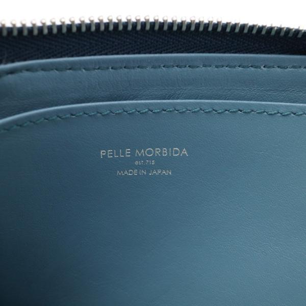 PELLE MORBIDA ペッレモルビダ 財布 コインケース モルビダ L字ファスナー ミニウォレット メンズ レディース 革 Barca バルカ ペレモルビダ BA013 ネイビー