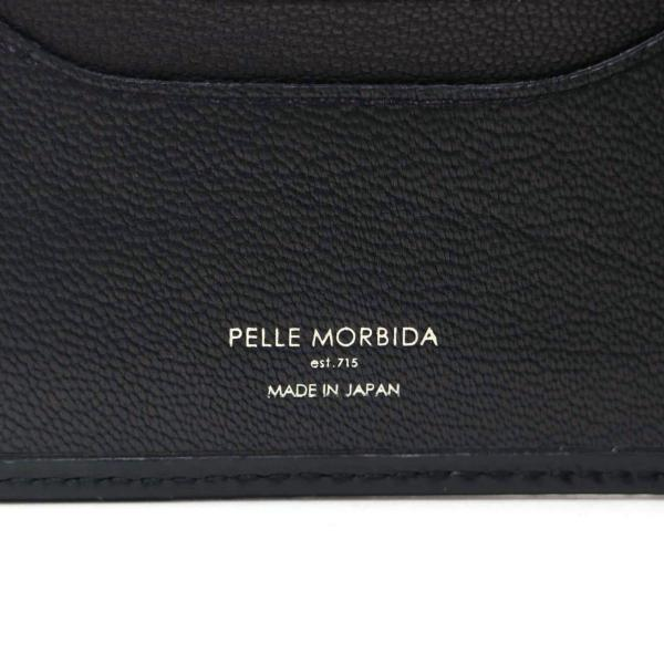ペッレモルビダ PELLE MORBIDA 財布 モルビダ 二つ折り財布 メンズ 小銭入れあり 革 Barca バルカ ペレモルビダ BA204【送料無料】 ネイビー