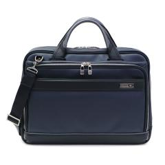 【正規品1年保証】バーマス ビジネスバッグ BERMAS 2WAY ブリーフケース PC収納 ショルダー M.I.J 通勤 バッグ 豊岡鞄 ビジネス B4 通勤 出張 日本製 メンズ 60036 ネイビー(60)