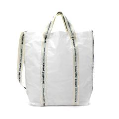 ビューティフルピープル バッグ beautiful people トートバッグ A4 縦型 軽い 2WAY トート レディース sail cloth logo tape shoulder bag ショルダー 斜めがけ おしゃれ 日本製 1025611935 1000611935 white