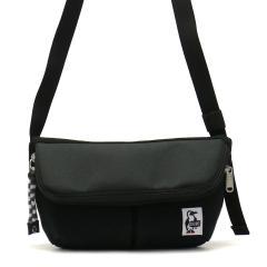 【日本正規品】CHUMS ショルダー チャムス ショルダーバッグ ジップフラップショルダー Zip Flap Shoulder Sweat Nylon 斜めがけ コンパクト メンズ レディース CH60-2402 Black_Charcoal(K018)