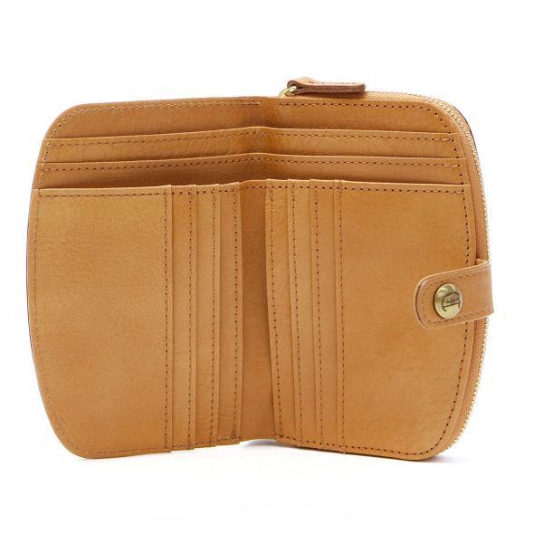 クレドラン 二つ折り財布 CLEDRAN 財布 MIEL ミエル クレドラン ブランド レディース 本革 CL-2406 キャメル(83-1934)