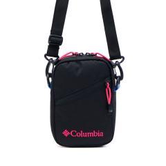 コロンビア ショルダーバッグ Columbia 斜めがけ 小さめ プライスストリームミニショルダー Price Stream Mini Shoulder 縦型 撥水 防水 アウトドア メンズ レディース PU8237 BlackBrightRose(014)