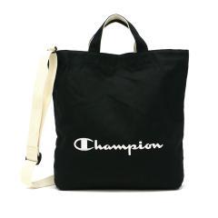 チャンピオン トートバッグ Champion ヒューイ 2WAY ショルダーバッグ トート バッグ 斜めがけ 斜めがけバッグ ショルダー サブバッグ A4 キャンバス コットン 布 シンプル 縦型 ブランド メンズ レディース 57766 ブラック(01)