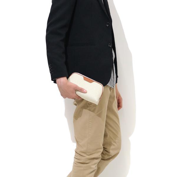 ペッレモルビダ ポーチ PELLE MORBIDA 小物入れ モルビダ 正規取扱店 メンズ レディース Cinque Terre チンクエテッレ ペレモルビダ CT003 アイボリーxブラック