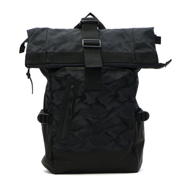 【セール30%OFF】DECADE ディケイド リュックサック バックパック 迷彩 カモ ロールトップ メンズ DCD-00602A ブラックカモ