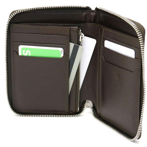 FARO ファーロ 財布 faro 財布 二つ折り財布 メンズ ラウンドファスナー ラウンドジップ GRECO FIN-CALF FRO384271 SAX(072)
