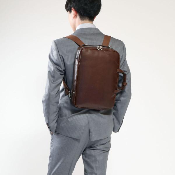【正規取扱店】エルゴポック バッグ HERGOPOCH ビジネスバッグ ブリーフケース 3WAY Glaze Series グレイズ ビジネス 通勤 通勤バッグ ビジネスリュック A4 メンズ 本革 GL-BFT ブラック