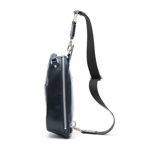 HERGOPOCH エルゴポック ワンショルダーバッグ ボディバッグ メンズ レディース 本革 レザー GL-OS【送料無料】 4/29 NAVY/ネイビー